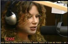 Lauri on the radio doing her thang!